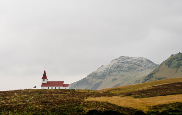 Iceland-church-stock
