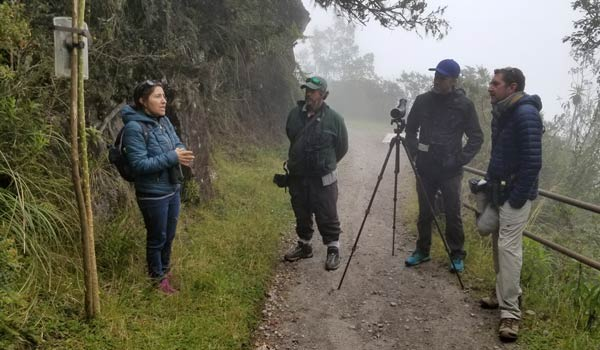 Yanacocha--hummingbird-researcher-Tatiana-Santander-&-camera-trap